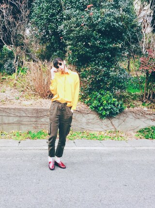 橋爪愛さんの「オーバーサイズシャツ(The Dayz tokyo|ザ デイズ トーキョー)」を使ったコーディネート