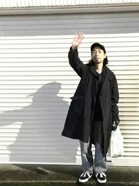 志鎌英明さんの「TEATORA Device Coat(TEATORA|テアトラ)」を使ったコーディネート
