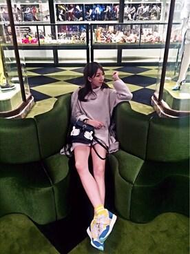 yuyiさんの「Lily Brown×atmosコラボ ASICS'GEL SAGA'スニーカー(Lily Brown|リリー ブラウン)」を使ったコーディネート