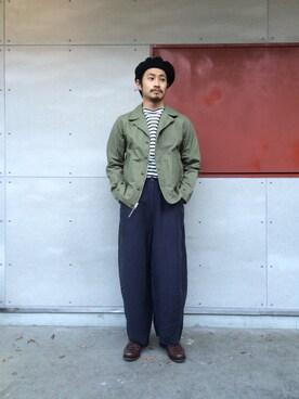 FREAKS STORE 原宿店|岩井一真さんの「【予約商品】M-41 JACKET WASHER TWILL(Engineered Garments)」を使ったコーディネート