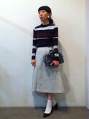 「Carven Mosaic-Striped Merino Pullover(Carven)」 using this MW looks