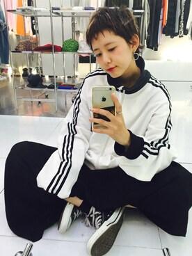 KAKA☆VAKA 大阪店|yuiさんの「converse(コンバース) ALL STAR HI(オールスターHI)(CONVERSE)」を使ったコーディネート