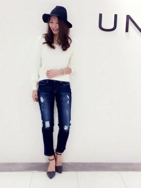 UNRELISH 広島PARCO店|UNRELISH OFFICIALさんの「起毛クラッシュボーイズデニム(UNRELISH)」を使ったコーディネート