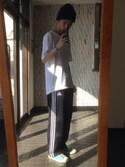 「adidas Pants, Varsity Tricot Pant(adidas)」 using this 小野文頌 looks