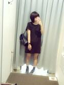 「FOREVER 21 Cotton T-Shirt Dress(Forever 21)」 using this doridori looks