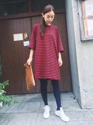 阿久津ゆりえさんの「BACK RIBBON DRESS(MILKFED.|ミルクフェド)」を使ったコーディネート