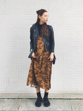 阿久津ゆりえさんの「shrink leather riders(beautiful people|ビューティフルピープル)」を使ったコーディネート