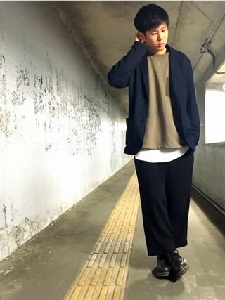 しゆうさんの「カットツイルジャケット【niko and ...】(niko and...|ニコアンド)」を使ったコーディネート