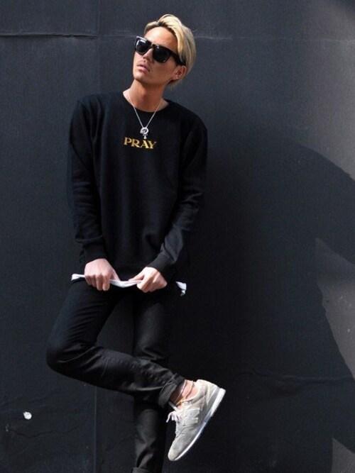 EDIJAM | T.JUAN.YASUSHIさんのスウェット「EDIJAM PRAY sweatshirts」を使ったコーディネート