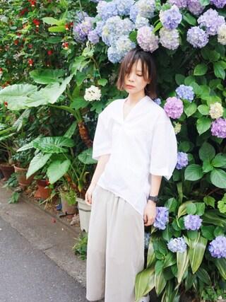斎藤有沙さんの「コクーンスキッパーSS/715161(JEANASIS|ジーナシス)」を使ったコーディネート