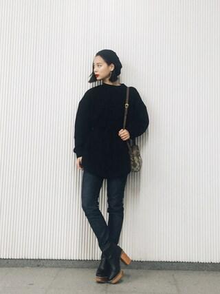 斎藤有沙さんの「BLOUSING SWEAT TOPS(RIM.ARK|リムアーク)」を使ったコーディネート