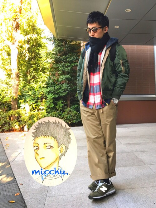 m i c h u 🍖さんの「-2015FW-  REVERSIBLE MA-1(FREAK'S STORE)」を使ったコーディネート