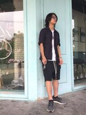 「Rick Owens 'Faun' Stretch Cotton Shorts(Rick Owens)」 using this LincolnLin looks