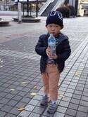 こーひーさんの「BOYS ライトウォームパデットジャケット+(ユニクロ|ユニクロ)」を使ったコーディネート