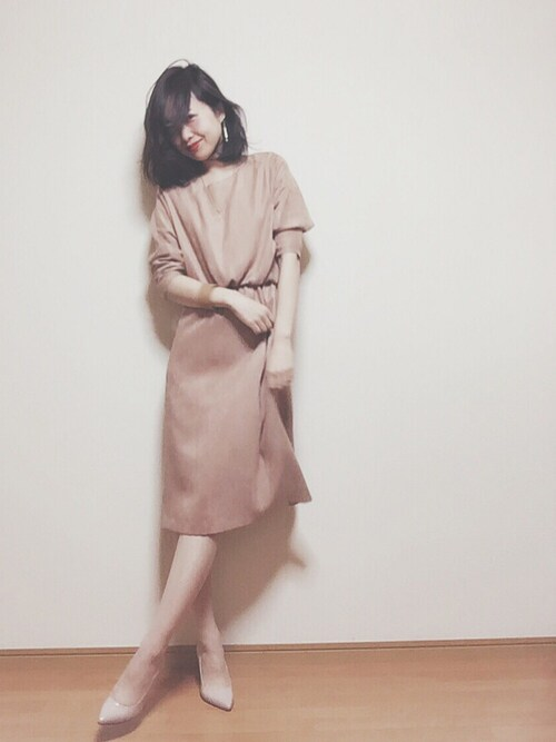 アルアバイル ピンクドレス 清楚系コーデ 30代