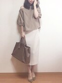 「FOREVER 21 Ribbed Knit Midi Skirt(Forever 21)」 using this ropia looks