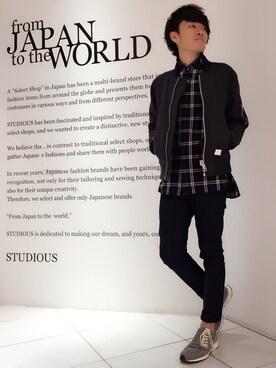 STUDIOUS ルミネ池袋店|Ryoさんの(Name.|ステュディオス)を使ったコーディネート