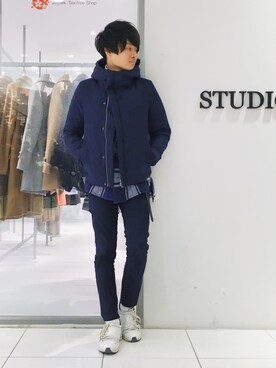 STUDIOUS ���~�l�r�ܓX�bRyo����̃p���c�u�yName.�zSTRECH CHINO SKINNY TROUSERS�iName.�b�l�[���j�v���g�����R�[�f�B�l�[�g