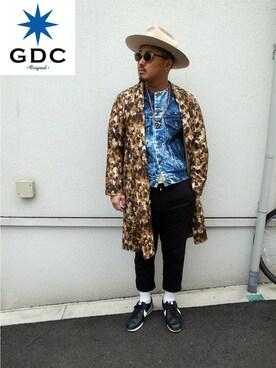 GDC TOKYO|GDCTOKYO -竜以さんの「FLOWER COAT(GDC)」を使ったコーディネート