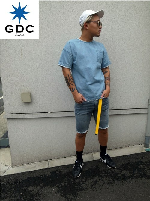 GDCTOKYO -竜以さんの「FRINGE INDIGO SHIRT(GDC)」を使ったコーディネート