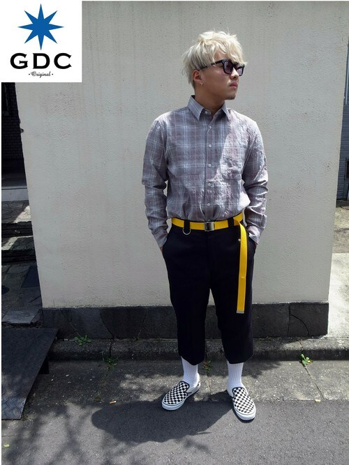 GDCTOKYO -竜以さんの「SHIRRING OMBRE CHECK SHIRT(GDC)」を使ったコーディネート