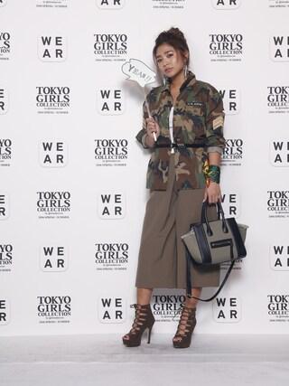 東京ガールズコレクション(TGC)さんの「◆WEGO/ミリタリーシャツ(WEGO|ウィゴー)」を使ったコーディネート