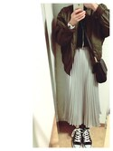 りさまるさんの「WOMEN UVカットノースリーブセーター(ユニクロ|ユニクロ)」を使ったコーディネート