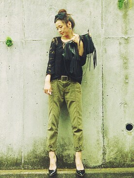 金子三記(miki)さんの(quadro|クオドロ)を使ったコーディネート