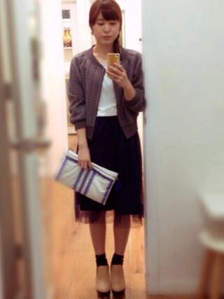 Pink'eeeさんの「DRAPE JERSEY DRESS(AMIW|アミウ)」を使ったコーディネート