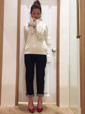 Mila Owen|masano omayaさんの「羊革スエードパンプス(Mila Owen)」を使ったコーディネート