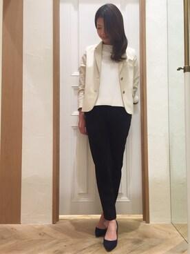 Mila Owen|masano omayaさんの「サイドスリット布帛セットアップ(Mila Owen)」を使ったコーディネート