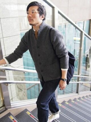 「カラミ織りワーキングシャツ(45R)」 using this 45R ルクアイーレ店|93 looks