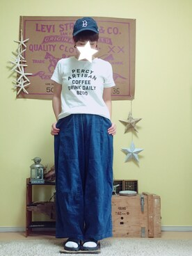 aoiさんの「DOORS PERCY ARTISAN TEE(URBAN RESEARCH DOORS WOMENS)」を使ったコーディネート