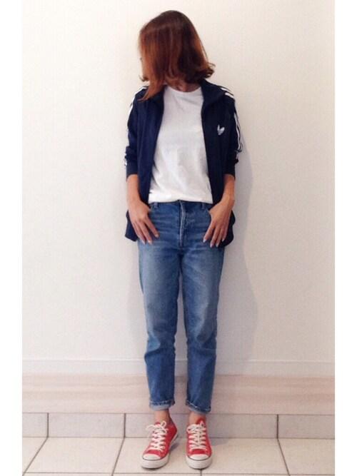 a.megumiさんの「Hanes×DOORS 3P-Tシャツ(URBAN RESEARCH DOORS)」を使ったコーディネート