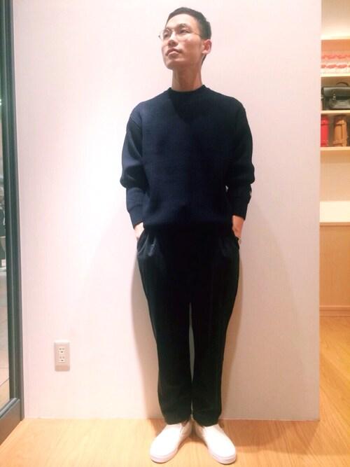 Bshop 札幌ステラプレイス店Tetsu Jyoさんのニット/セーター「【ORCIVAL(オーシバル)】畦編みワイドクルーネックプルオーバーMEN(ORCIVAL オーシバル)」を使ったコーディネート