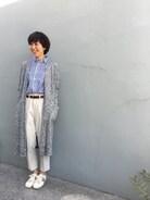 quadro sundry store 岡崎店|ayaさんの「マスターシードストライプレギュラーシャツ(quadro|クオドロ)」を使ったコーディネート