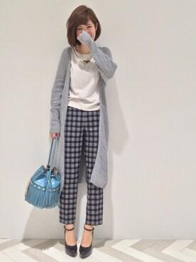 31 Sons de mode♡|うおchanさんの「【小嶋陽菜さん着用】ロングVネックカーディガン【美香さん着用】(31 Sons de mode)」を使ったコーディネート