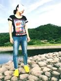 Taishi Takahashiさんの「【adicolor】オリジナルス スーパースター [SUPERSTAR TONAL](adidas originals|アディダスオリジナルス)」を使ったコーディネート