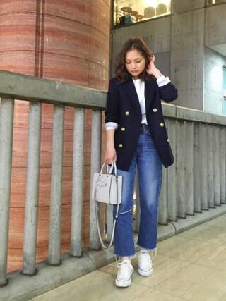 武智志穂さんの「ストレート デニム パンツ(Shinzone|シンゾーン)」を使ったコーディネート