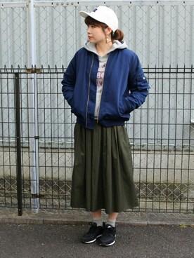 カインドオルフレスポ東大阪店さんの「TRタックギャザースカート 711093(LOWRYS FARM)」を使ったコーディネート