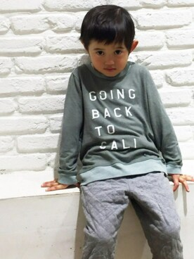 CANALJEAN 神戸店 CANALJEAN   WEBさんの「SOL ANGELS(ソルエンジェルズ) KIDSプリントトレーナー (GOING BACK)(SOL ANGELS)」を使ったコーディネート
