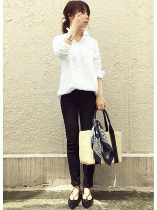 ari☆さんの「ワイヤーウォッシュシャツ◆(Deuxieme Classe|ドゥーズィエムクラス)」を使ったコーディネート
