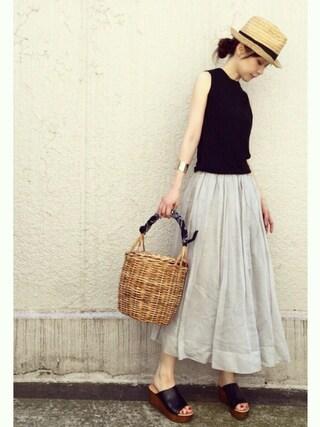 ari☆さんの「《追加》オーガンジーギャザースカート_#(journal standard L'essage|ジャーナルスタンダードレサージュ)」を使ったコーディネート
