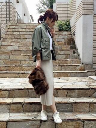 ari☆さんの「ワークショートジャケット ツイカ◆(FRAMeWORK|フレームワーク)」を使ったコーディネート