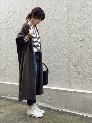 ari☆さんの「《予約》*スムースニットガウンコート(Deuxieme Classe|ドゥーズィエムクラス)」を使ったコーディネート