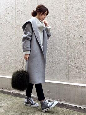 ari☆さんの「ファーチェーンバッグ(TODAYFUL|トゥデイフル)」を使ったコーディネート