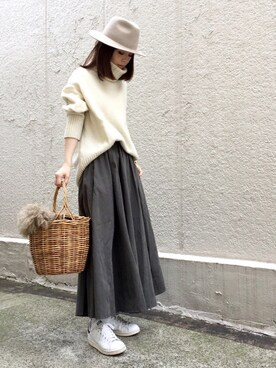 ari☆さんのスカート「デザインスカート(antiqua|antiqua)」を使ったコーディネート