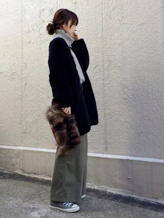 ari☆さんの「DOORS ワイドカーゴパンツ(URBAN RESEARCH DOORS WOMENS|アーバンリサーチ ドアーズ ウィメンズ)」を使ったコーディネート