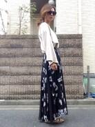 スカートと靴はだいぶ前からのものだけど、今でもお気に入り(^^) 基本的に好きなものが変わらないtype☝︎��