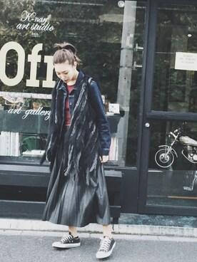 MURUA本部|小竹麻美さんのスニーカー「CONVERSE コンバース ALL STAR OX オールスター オックス(CONVERSE|コンバース)」を使ったコーディネート